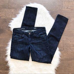 J. Crew Toothpick Blue Skinny Jeans